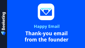 Happy Email | Automated Thank-you Email