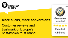 Trusted Shops® trustmark and customer reviews
